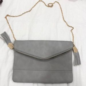 Gray Envelope Clutch Crossbody Bag!